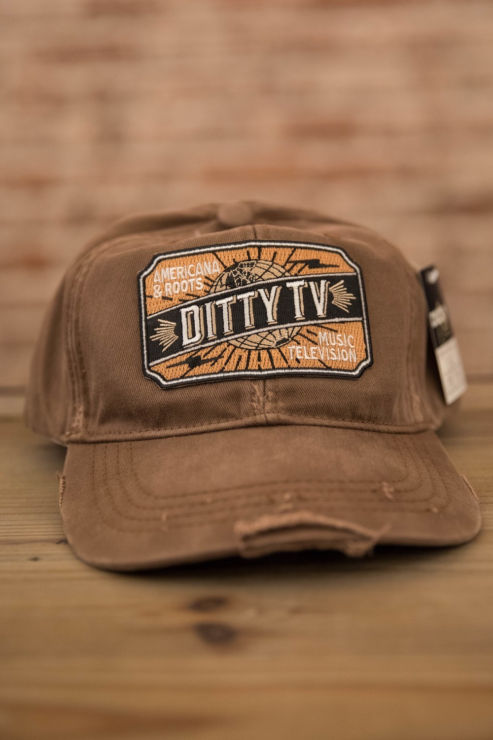 Decky Vintage Fitted Polo Caps - Brown