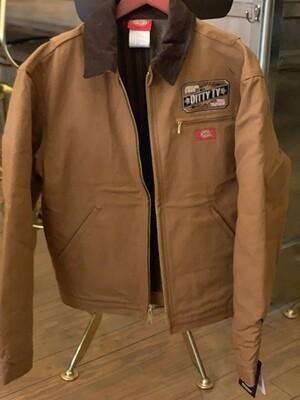 DittyTV Duck Blanket Lined Dickies Jacket--Brown