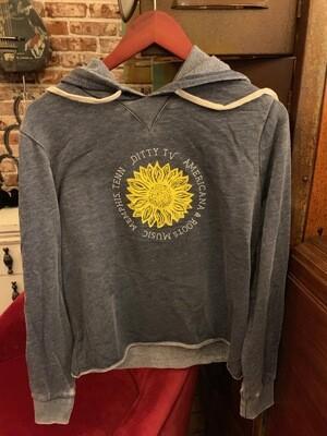 Women's Sunflower Hoodie--Gray