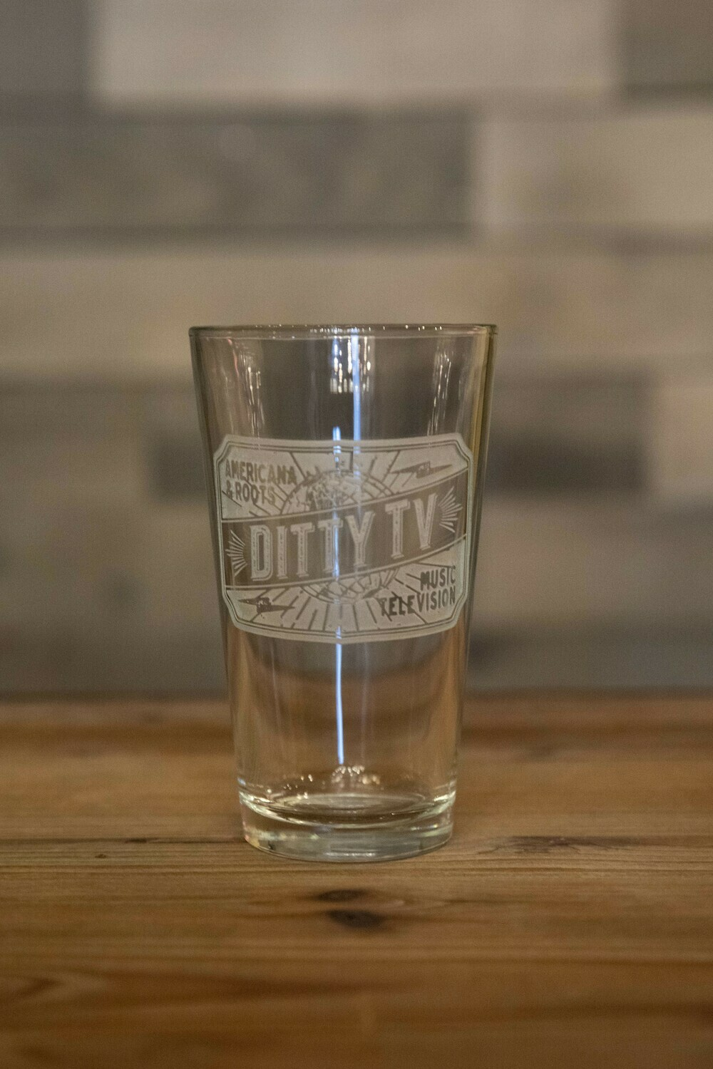 DittyTV Pint Glass