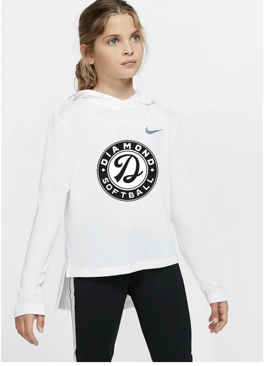 Youth Dry Fit Long Sleeved TShirt - WHITE