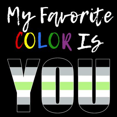 My Favorite Color - Agender Pride T-Shirt