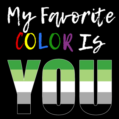 My Favorite Color - Aro/Aromantic LGBTQ+ Pride T-Shirt