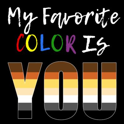 My Favorite Color - Bear Pride T-Shirt