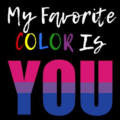 My Favorite Color - Bisexual Pride T-Shirt