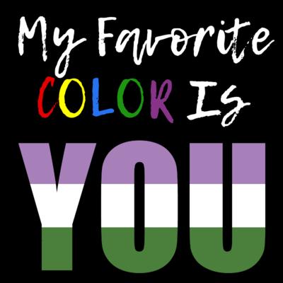My Favorite Color - Genderqueer Pride T-Shirt