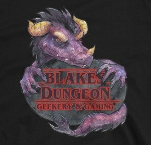 Game Master Blake's Dungeon staff shirt