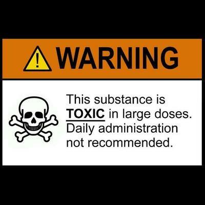 TOXIC - Warning Label T-shirt