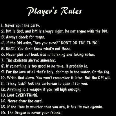 Player's Rules Shirt