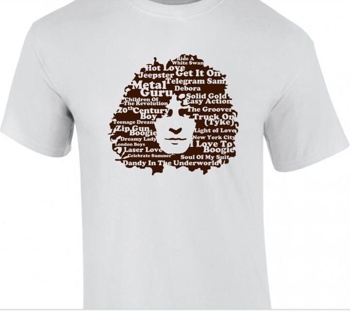 Marc Bolan 'Singles' - T-Shirt