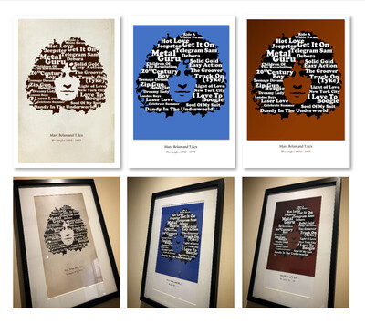 Bolan 'The Singles' A4 Print