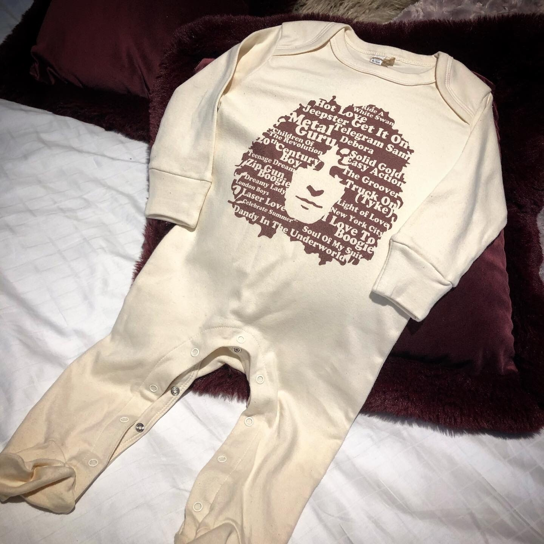 Marc Bolan 'Singles' - Baby Sleepsuit