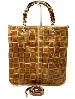 Shopper Winona Bamboo COGNAC