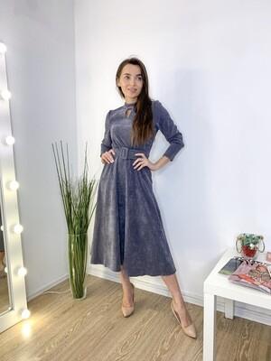 Платье миди серое