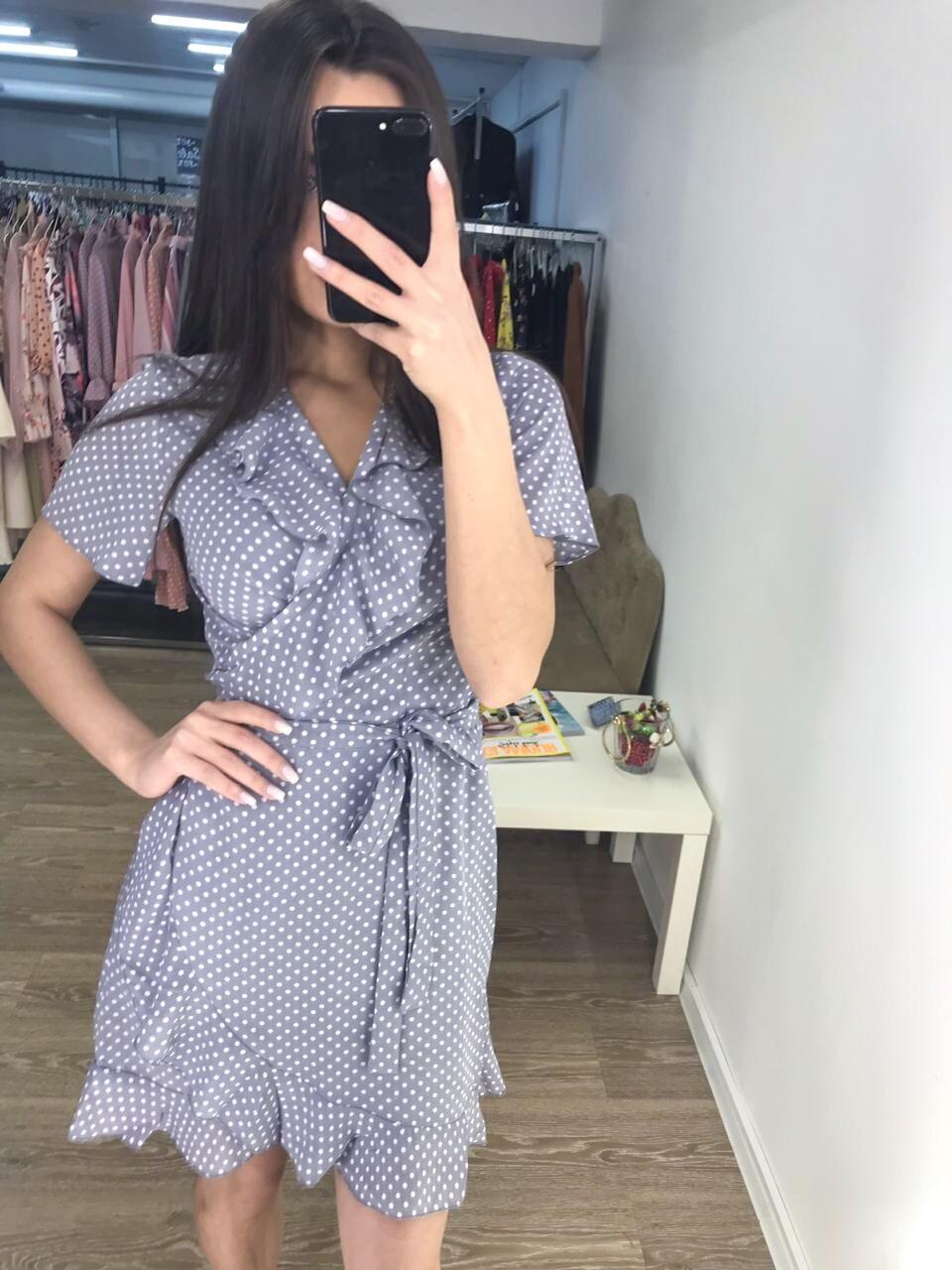 Платье мини на запах