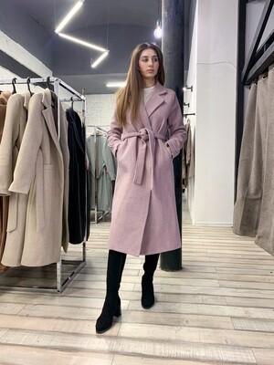 Пальто с втачным рукавом меланж