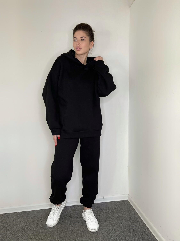 Костюм на флисе, с карманами Черный М
