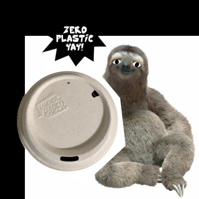 Lid 80mm (1000) Plastic free lids n lips