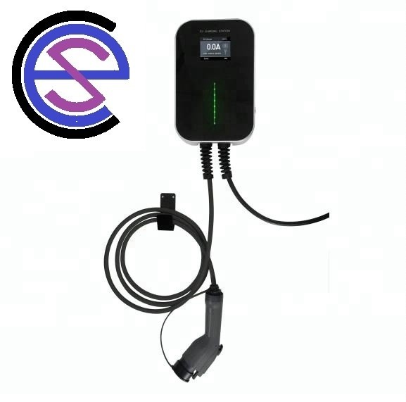 220V wall mounted EV Charger with 5m cable and type 2 connector FAST CHARGE