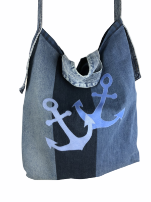 Shopping-Büdel Anker Upcycling Jeans
