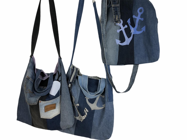 Shopping-Büdel aus Jeans (Einkaufstaschen)