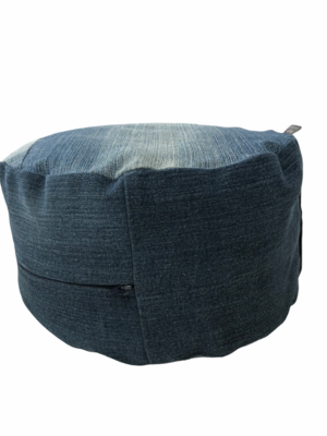 Jeans YOGA-Kissen HandMade Upcycling mit BIO-Dinkelspelz