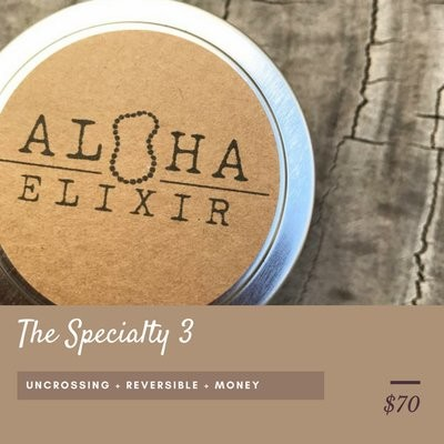 THE SPECIALTY THREE Aloha Elixir Intention Candles Soy