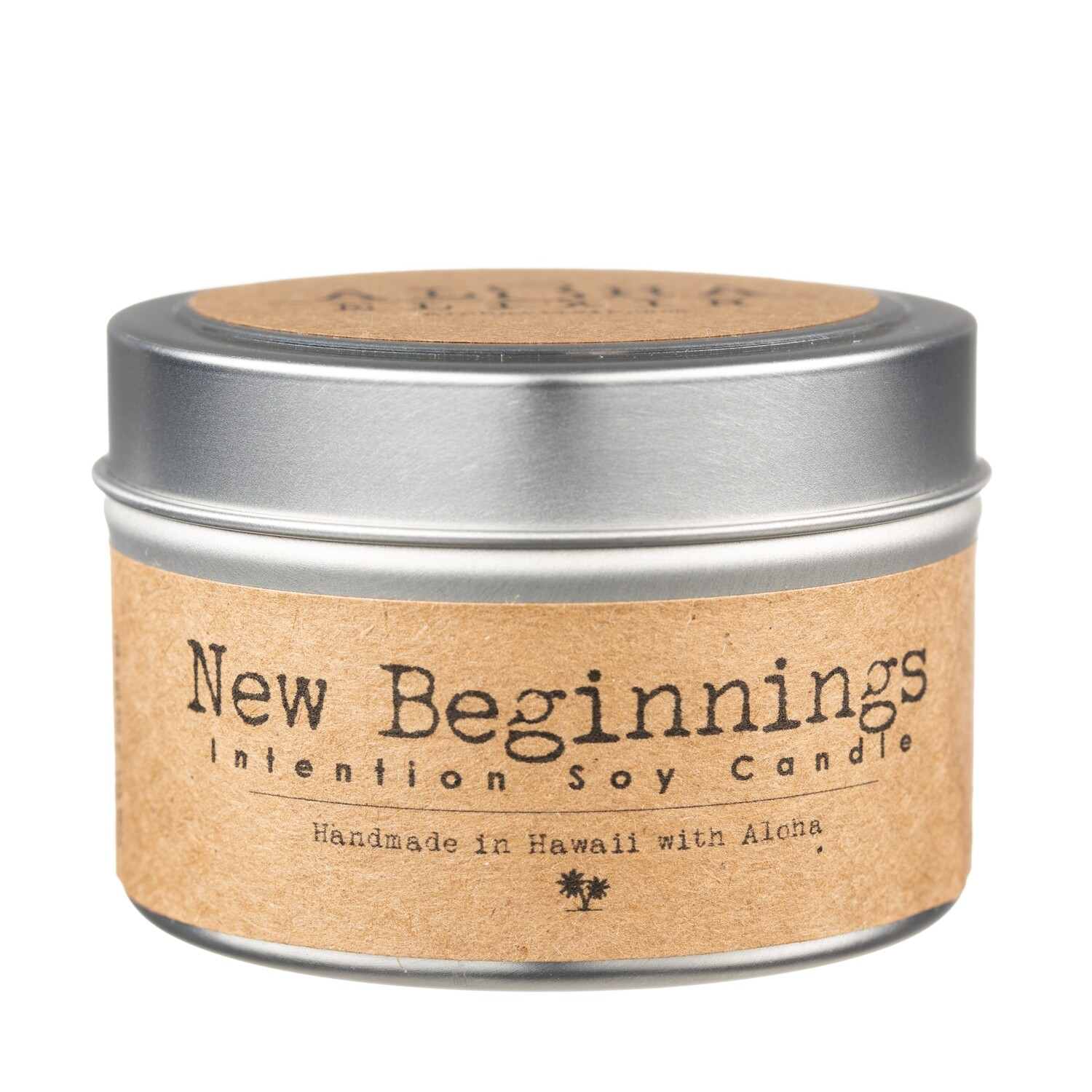 New Beginnings Soy Intention Candle 4 oz. Travel Tin