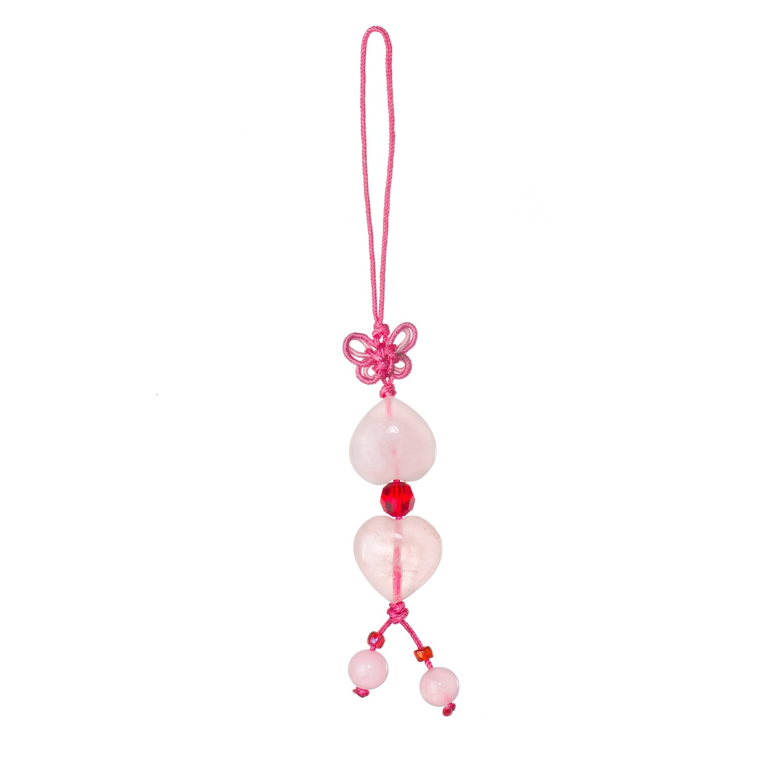 Double Heart Charm Key Chain