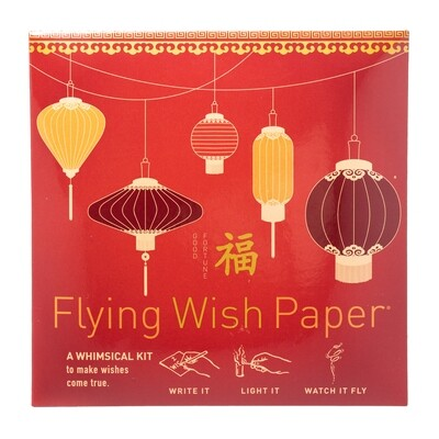 Flying Wish Paper Feng Shui Good Fortune Red