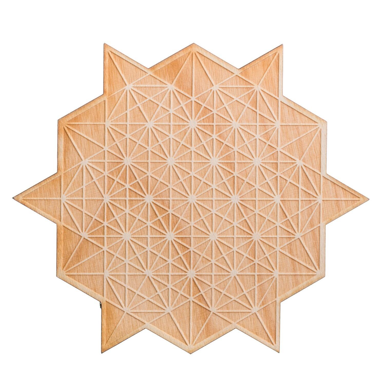 Hex Star Wooden Plaque