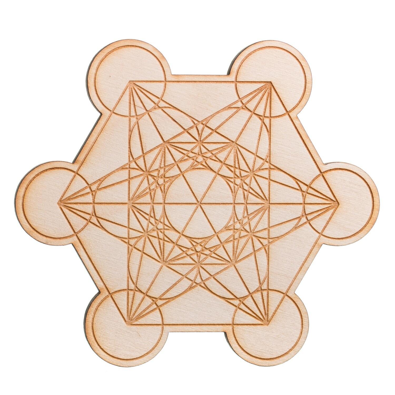 Metatron's cube 6in wooden Grid