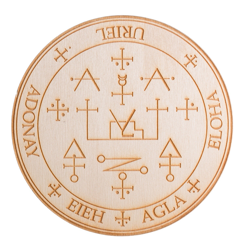 Archangel Uriel Wooden Angel Altar Plaque
