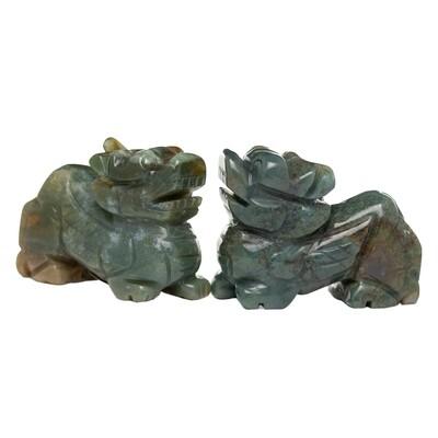 Jasper Stone pair of Pi-Chu