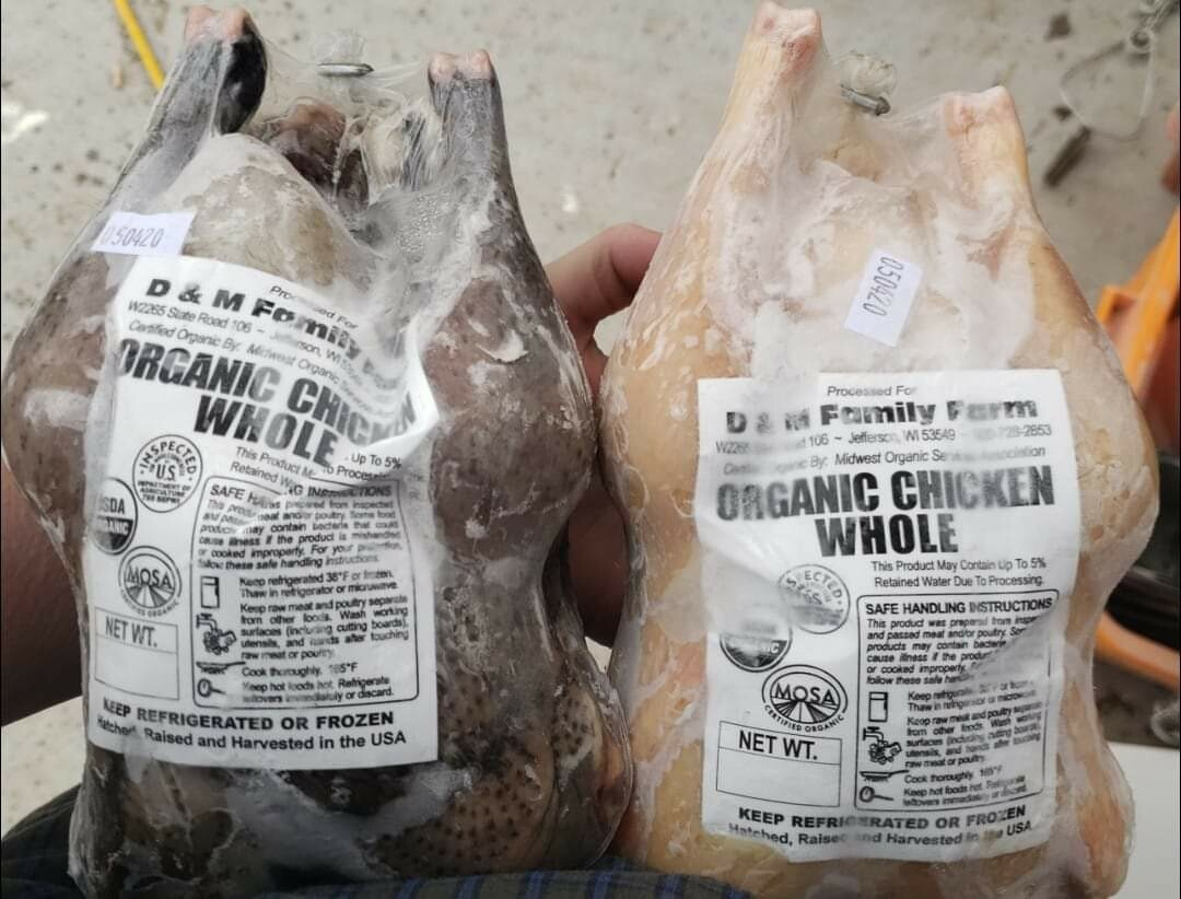 Certified Organic Heritage Cross Chickens - Whole