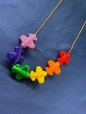 Airplane Bead Necklace