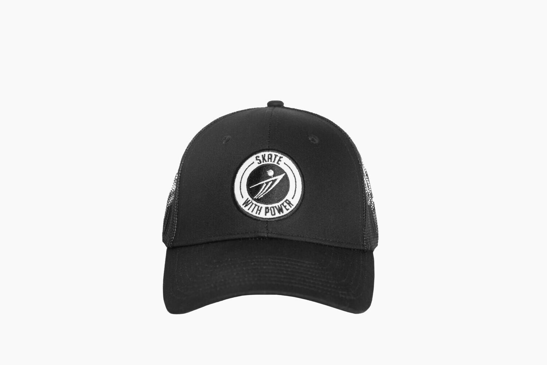 Black on Black Snapback - Round Logo