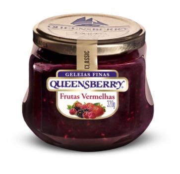 Geleia Diet Queensberry Frutas Vermelhas 280g