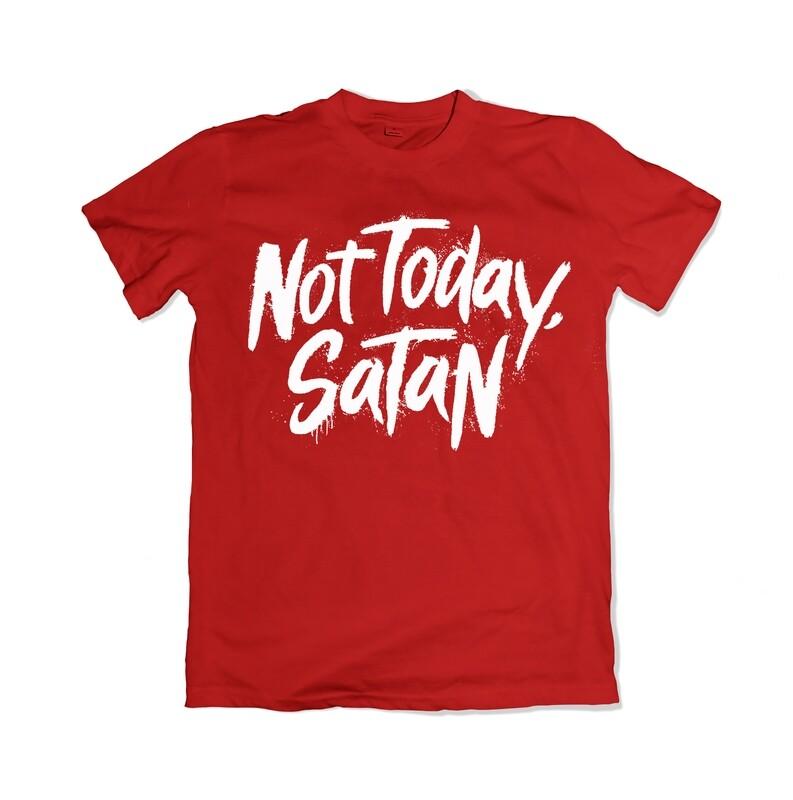 Not Today, Satan Tee - (Red)