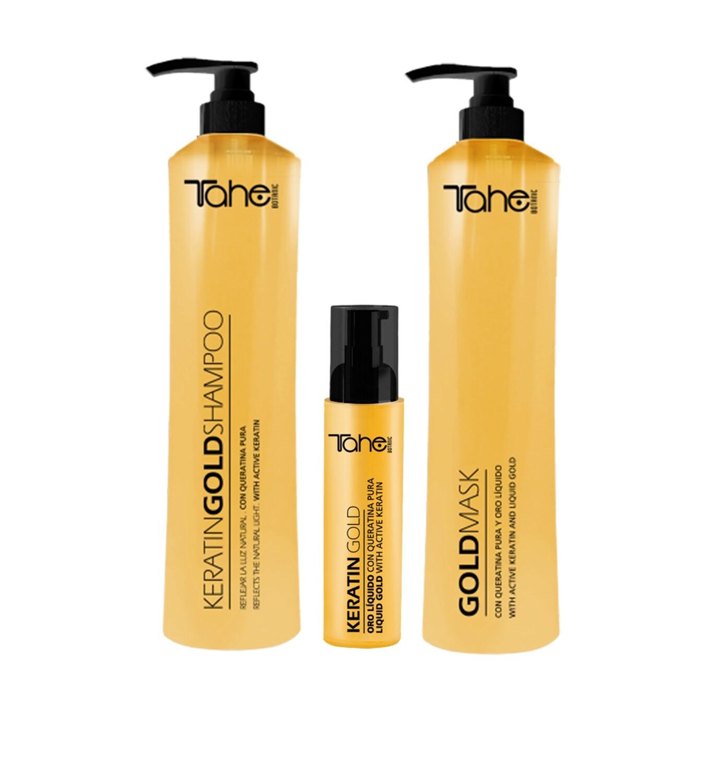 Keratin Gold Kit (Shampoo 800 ml + Mask 800 ml. + Gold drops 30 ml.)