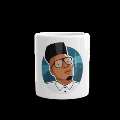 Oliver Twixt White Glossy Mug