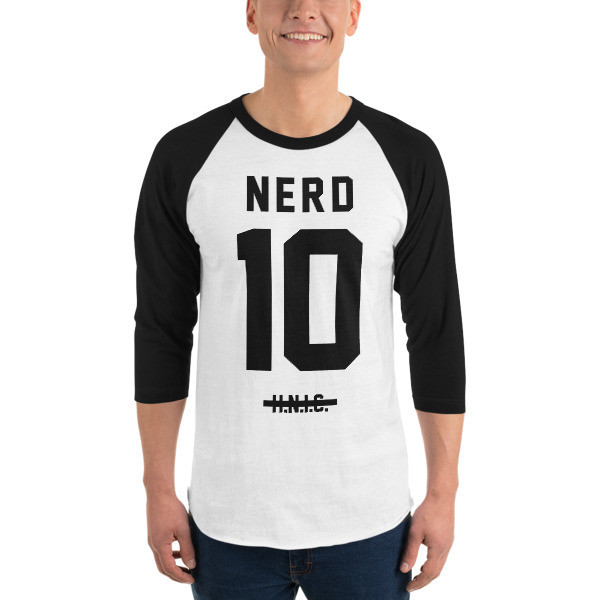 NERD Jersey 3/4 Sleeve Raglan Shirt