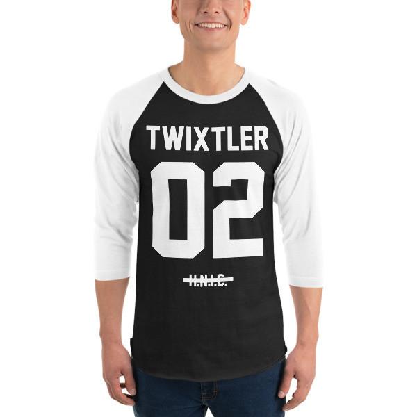 TWIXTLER White Jersey 3/4 Sleeve Raglan Shirt