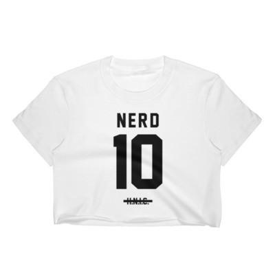 NERD Black Crop Top