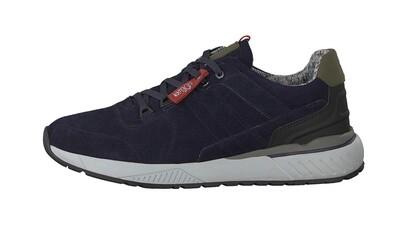 Leer navy sneakers van s.oliver