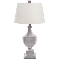 Gray Distressed Table Lamp