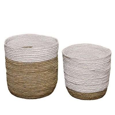Natural & White Baskets