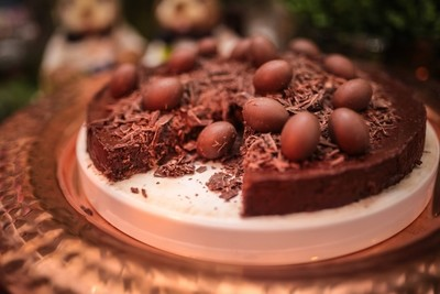Torta Aveludada de Chocolate Meio Amargo