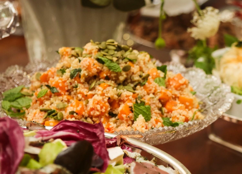 Salada de Quinoa com Abóboras assadas lentamente ao perfume de Gengibre, Pimenta Biquinho e Hortelã