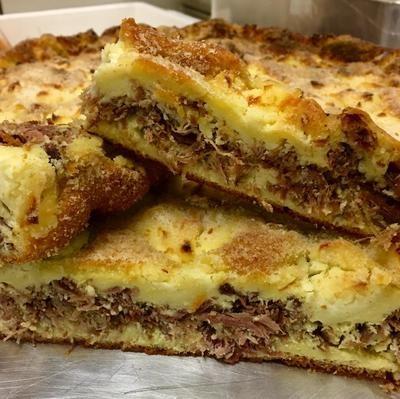 Torta Rústica de Carne Seca com Requeijão de Copo
